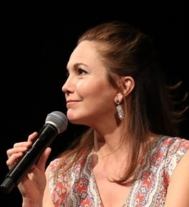 Profile of Diane Lane with beautiful volume